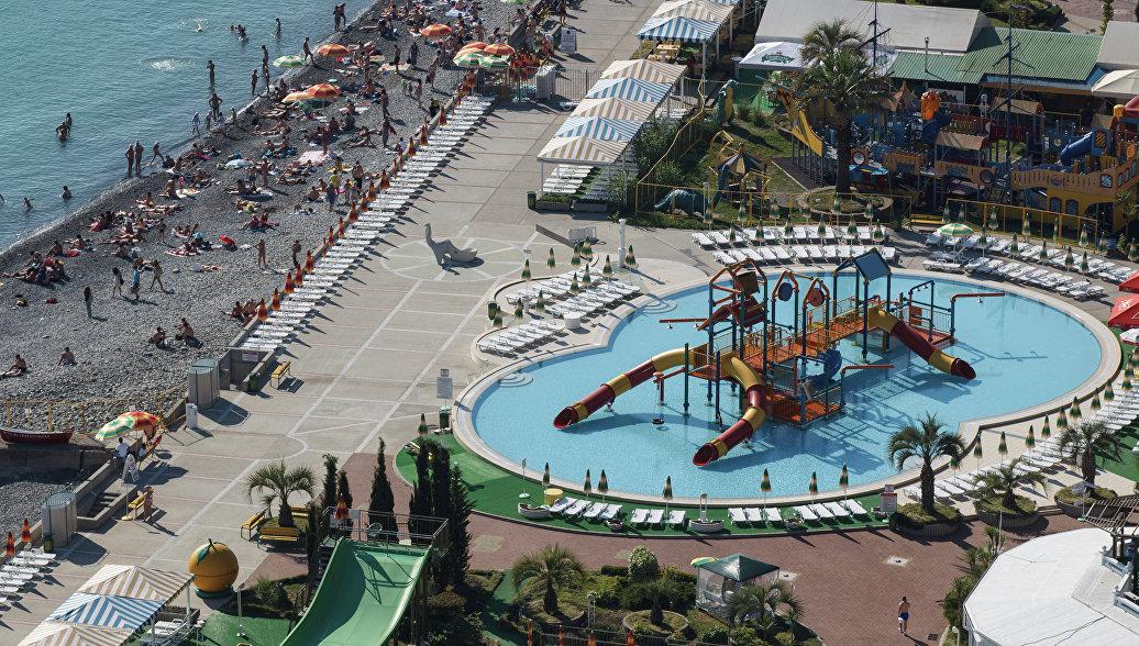 Городской пляж и аквапарк в Сочи