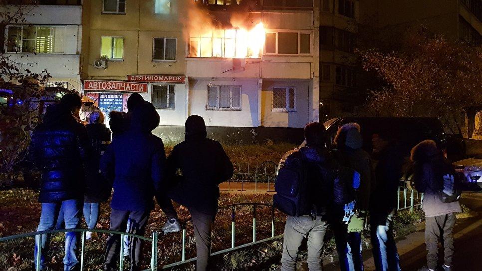 Пожар в жилом доме на юго-востоке Москвы. 10 ноября 2018
