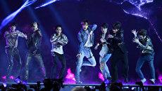 Южнокорейская k-pop группа BTS .Архивное фото