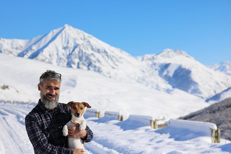 В горах Северной Осетии.