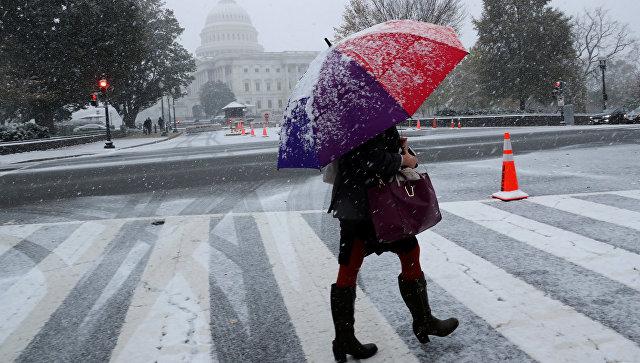 Снегопад в Вашингтоне. 15 ноября 2018