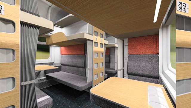 Концепт новых плацкартных вагонов РЖД с модульными пространствами