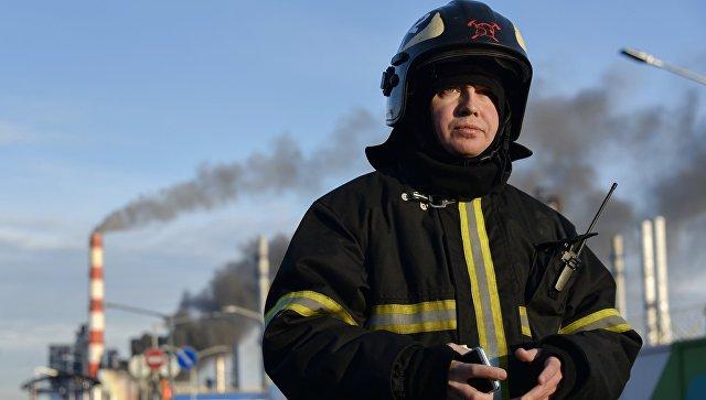 В Петербурге ликвидировали открытое горение на строящемся ледоколе