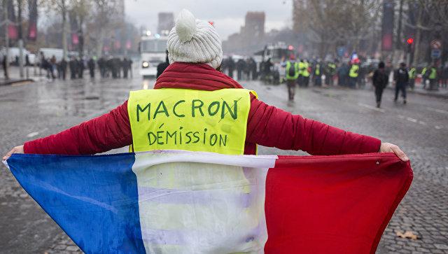 париж , подавление народного протеста против сша