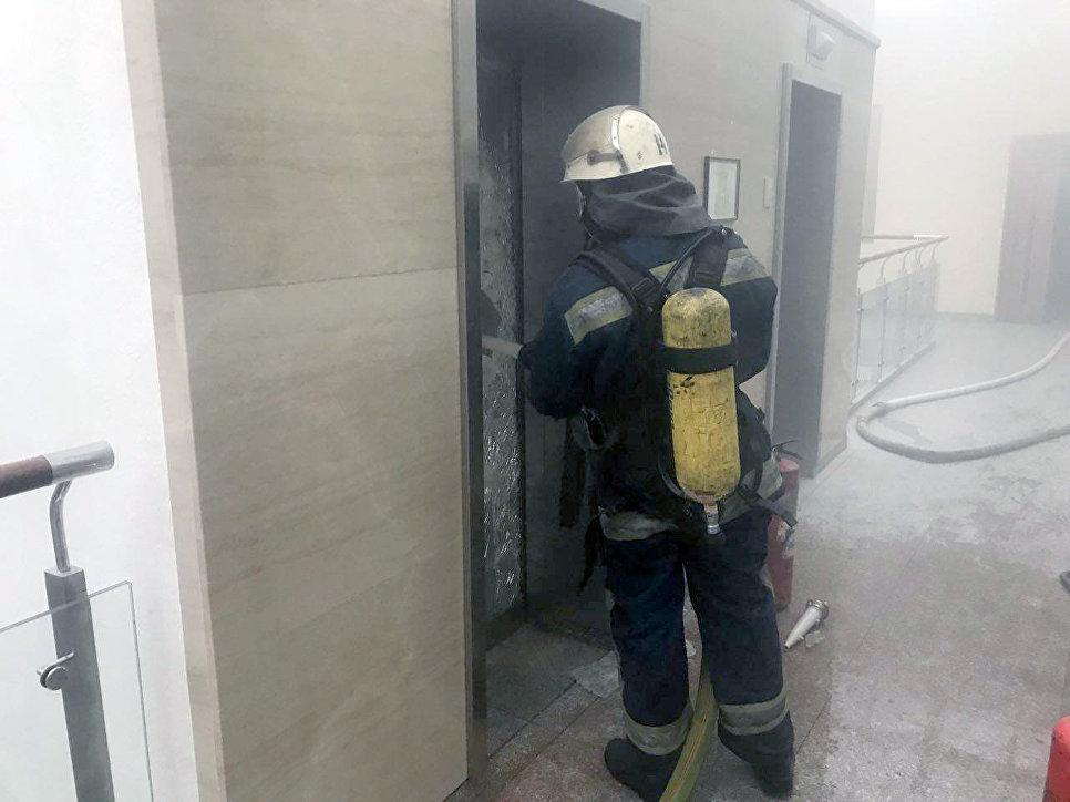 В здании Минфина Украины произошел пожар
