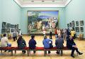 В зале Государственной Третьяковской галереи