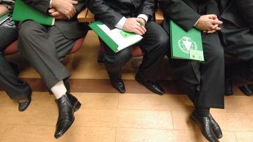 Анатолий Панфилов и Владимир Поляков на XI Съезде экологической партии Зеленые