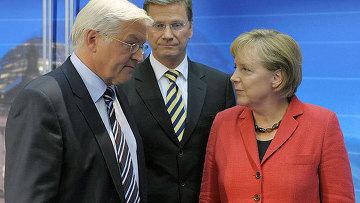 Франк-Вальтер и Ангела Меркель, архивное фото