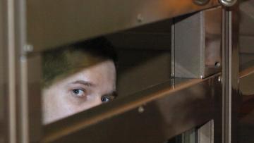Бывший начальник ОВД Царицыно майор милиции Денис Евсюков в зале суда.