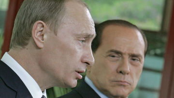 Владимир Путин и Сильвио Берлускони, архивное фото