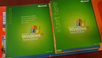 Операционная система Windows XP, архивное фото