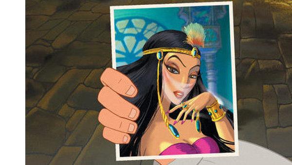 Кадр из мультипликационного фильма Три богатыря и Шамаханская царица