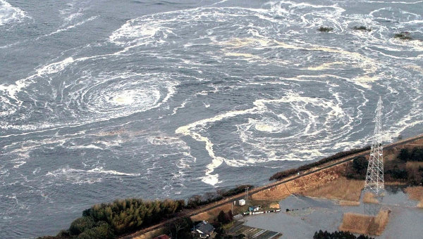 Последствия землетрясения в префектуре Фукусима в Японии