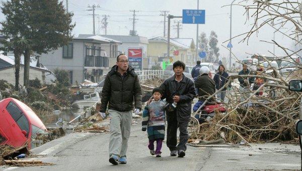 Последствия землетрясения и цунами в японском городе Сэндай