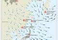 Уровень радиации и прогноз направления и скорости ветра на Дальнем Востоке