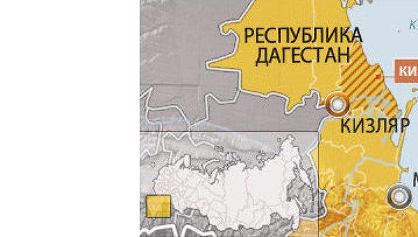 Кизлярский район Дагестана. Карта