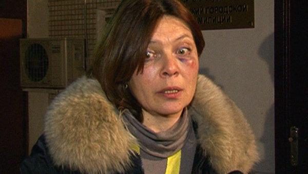 Наталья Сейбиль, заявившая об избиении сотрудником милиции