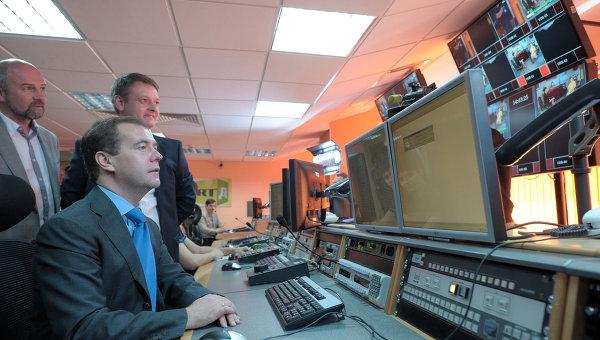Посещение Дмитрием Медведевым телеканала Russia Today