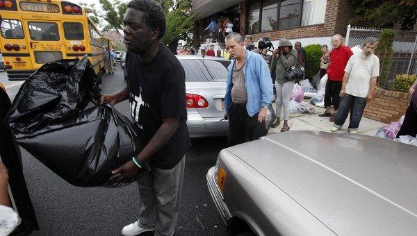 Эвакуация из-за урагана Айрин в Нью-Йорке
