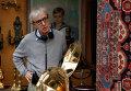 Вуди Аллен на съемках фильма Полночь в Париже