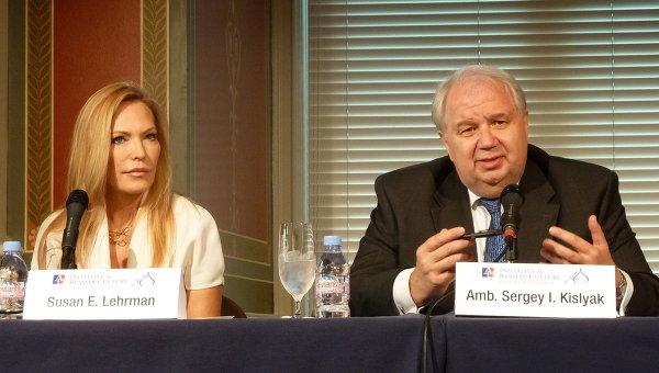 Посол РФ в США Сергей Кисляк и филантроп Сьюзан Лерман. Архив