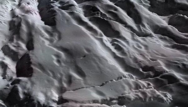 Реконструкция поверхности Энцелада, покрытой снегом из ледяных кристаллов