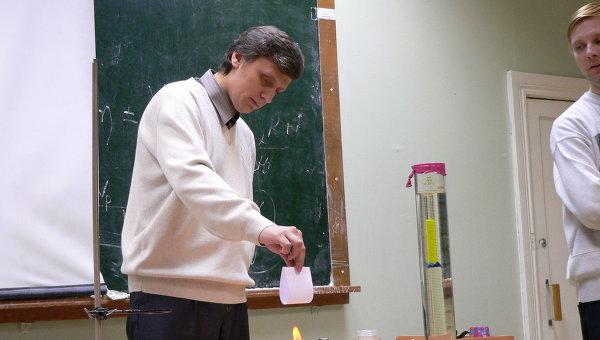 Опыты с несгораемой бумагой на фестивале науки в Костроме. Архив