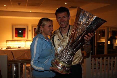 Константин Зырянов с женой