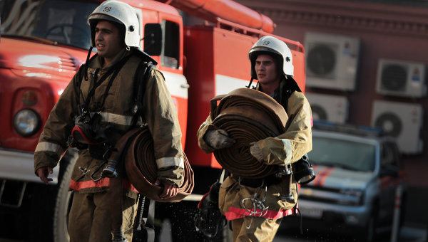 Тушение пожара. Архивное фото