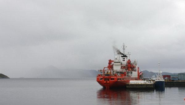 Научно-экспедиционное судно Академик Федоров вышло из норвежского порта Хаммерфест в экспедицию по исследованию арктического шельфа. Архивное фото