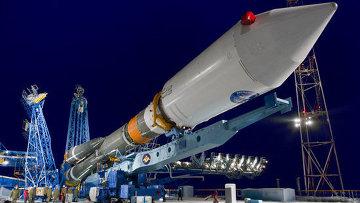 Ракета Союз с навигационным спутником Глонасс. Архивное фото