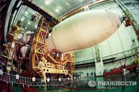 Советский орбитальный корабль Буран отмечает двадцатилетний юбилей полета