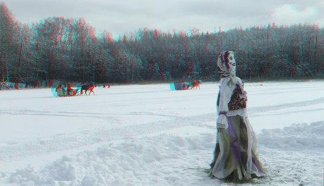 Масленица на одной из баз отдыха на Вышеволоцкой гряде на Валдае на озере Коломинец