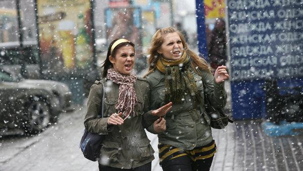 Снегопад в Новосибирске