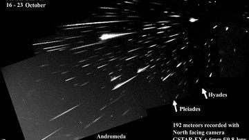 Метеорный поток Ориониды в октябре 2007 года