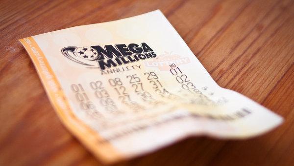 Билет американской лотереи Mega Millions. Архивное фото