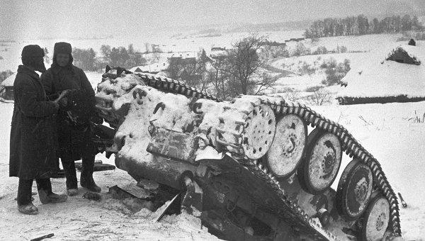 Разгром немецких танковых дивизий под Москвой. Архив
