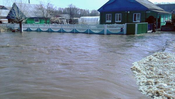 Паводок в селе Ермекеево, Башкирия