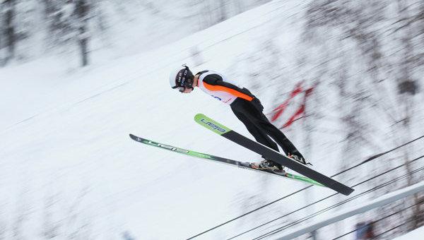 Летающий лыжник. Архивное фото