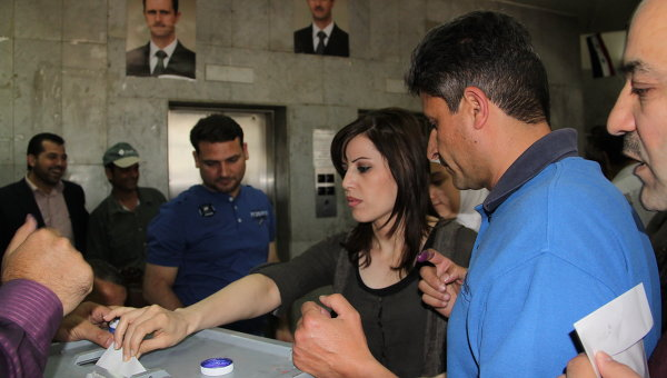 Голосование на парламентских выборах в Сирии