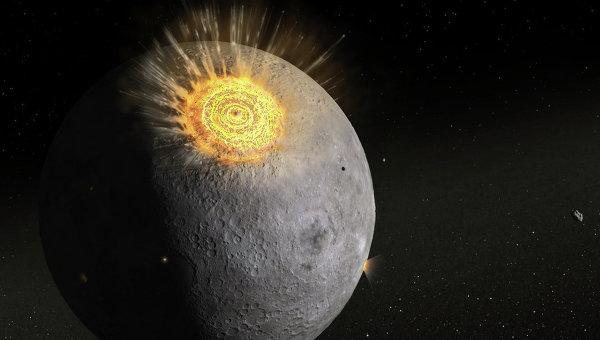 Луна во время поздней тяжелой бомбардировки глазами художника