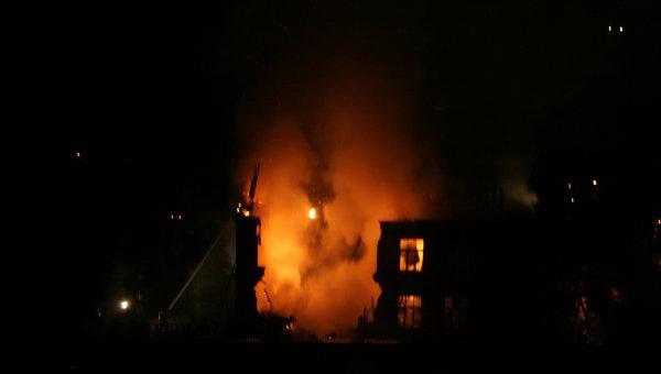 Пожар на Рижском проезде