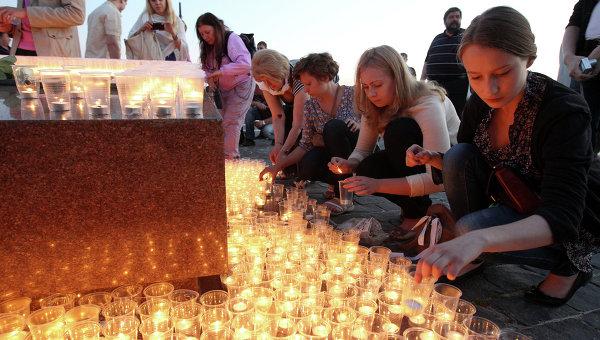 Акция в День памяти и скорби в Москве