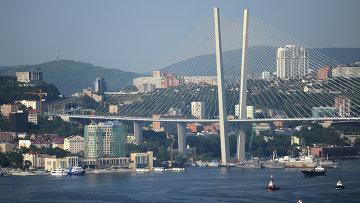 Мост через бухту Золотой Рог во Владивостоке. Архивное фото