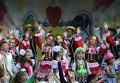 Юные артисты на открытии фестиваля Союзного государства «Творчество юных» в Анапе