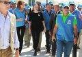 Посланник доброй воли ООН Анджелина Джоли прибыла в лагерь сирийских беженцев в Иордании
