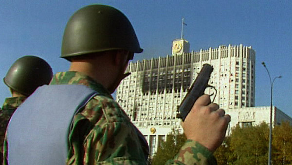 Октябрь 1993 года: в шаге от гражданской войны. Кадры из архива