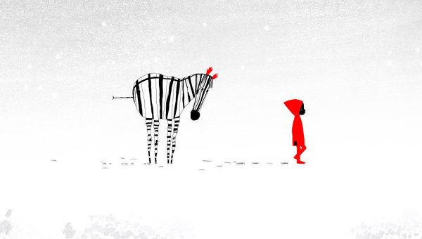 Кадр из мультфильма Снежинка