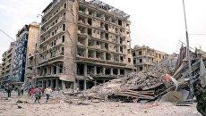 Последствия взрывов в Алеппо, Сирия