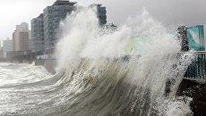 Тайфун Санба в Южной Корее